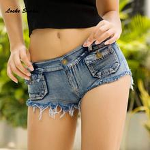 Low waist Women jeans denim shorts 2019 Summer Fas