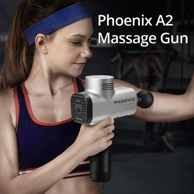 פניקס מיני עיסוי אקדח אלקטרוני גוף עיסוי הרפיה אקדח גבוהה רטט שרירים לעיסוי עמוק רקמות טיפול פנים אקדח