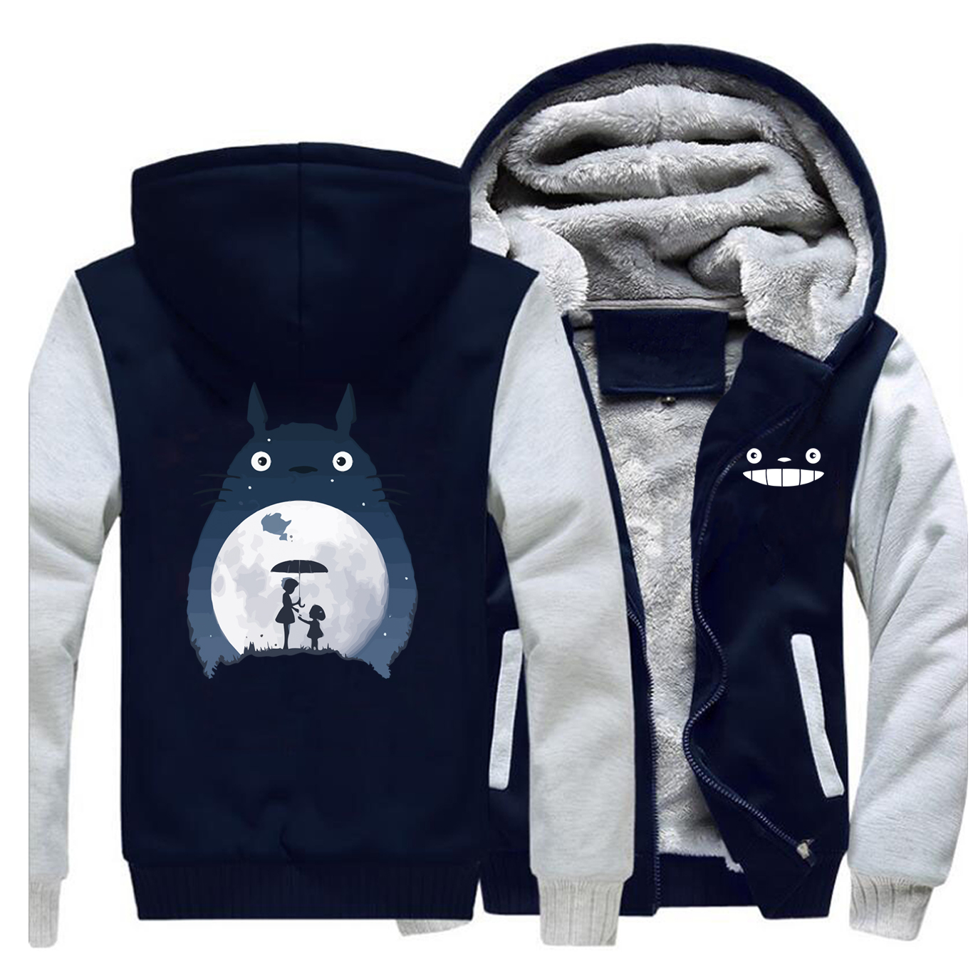 Image 5 - Tonari No Totoro Men Thick Fleece Hoodies Sweatshirts Brand Warm 