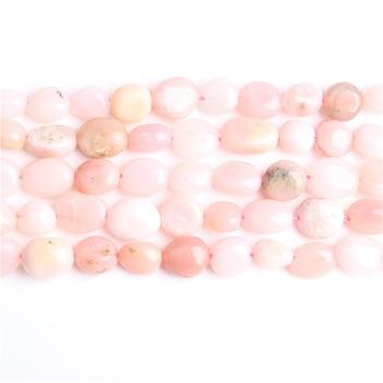 Linxiang 6x8 8x10mm cuentas sueltas naturales irregulares de ópalo rosa, usadas para la joyería DIY collar de pulsera de piedra