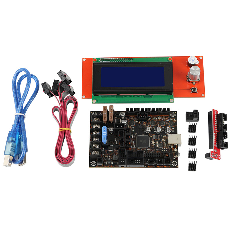 HOT-3D Printer Motherboard Kit for Prusa MK3/3S Einsy Rambo 1.1B with <font><b>TMC2130</b></font> <font><b>SPI</b></font>+2004Lcd image