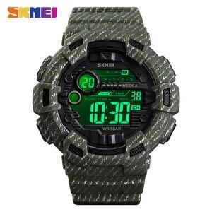 Image 1 - 2020 SKMEI עמיד למים שעון דיגיטלי זוהר חיצוני צבאי קאובוי ספורט גברים שעוני יד Relogio Masculino reloj hombre 1472