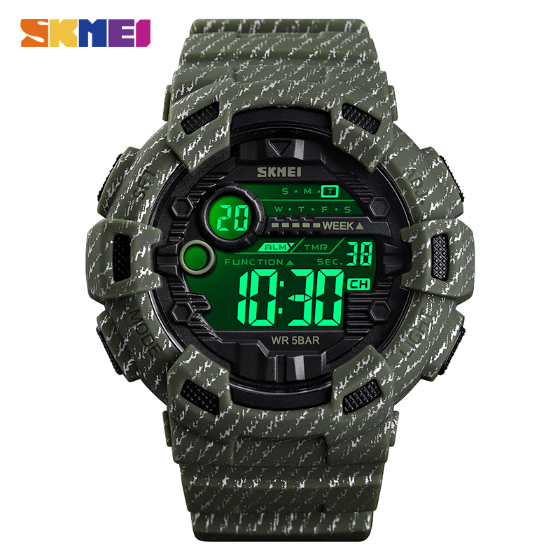 SKMEI 2019 Waterproof Luminous Digital Watch Outdoor Military Cowboy Sports Men Wristwatch Relogio Masculino Reloj Hombre 1472