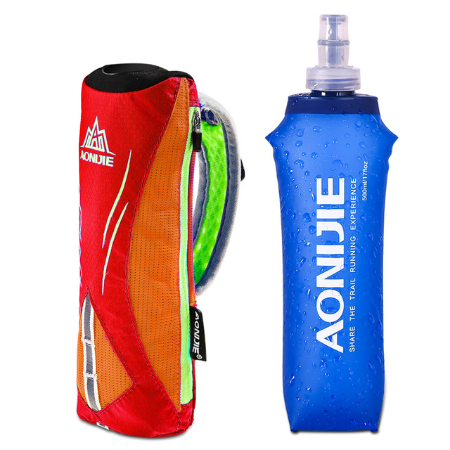 Running Hand-held Water Bottle Kettle Holder Wrist Storage Bag Hydration Pack Hydra Fuel Soft Flask Marathon Race
