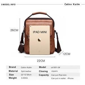Image 2 - Celinv Koilm Брендовые мужские сумки новые мужские сумки через плечо Большая вместительная кожаная сумка мессенджер для мужчин крутая Новинка для путешествий
