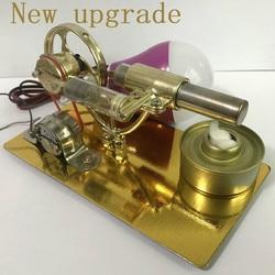 Mini motor Stirling motor de combustión externa microgenerador cumpleaños presente modelo de motor de vapor ciencia y educación escolar