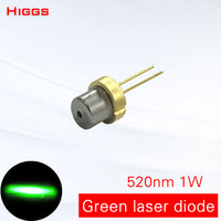 High stability 520nm 1000mw green light laser diode 1W semiconductor device laser head module locator light source DIY lamp