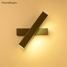 Feimefeiyou creative led wall lamp simple modern fashion bedroom corridor aisle wall bedroom bedside lamp adjustable angle