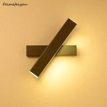Feimefeiyou-Lámpara led de pared con ángulo ajustable, simple, moderna, creativa y a la moda para dormitorio, pasillo, pared, mesita de noche
