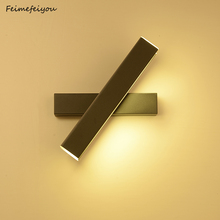 Feimefeiyou creative led מנורת קיר פשוט מודרני אופנה חדר שינה מסדרון מעבר קיר חדר שינה מנורה שליד המיטה מתכווננת זווית