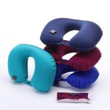 U образная Автоматическая надувная подушка для путешествий шеи