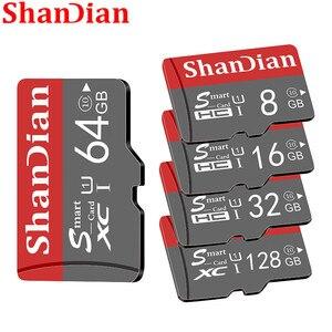 SHANDIAN micro sd 128GB 64GB 32GB 16GB 98mb/s TF usb flash memory card microsd 8GB/48MB/s class10 Original Product shipping