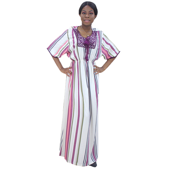 African Dresses For Women 2020 New Arrival Neckline Diamond Tassel Print Loose Dress tribal print tassel dress