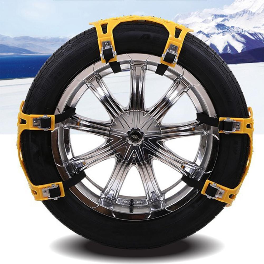 6 pièces voiture anti-dérapant chaîne universelle Portable épaississement élargi neige antidérapant chaînes pneus chaînes neige chaîne avec gants clé