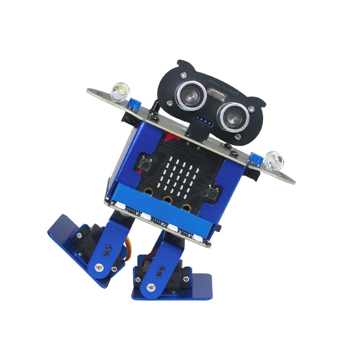 Programmable Dancing Robot Bipedal Humanoid Microbit Robot DIY Programming Starter Kit For Microbit