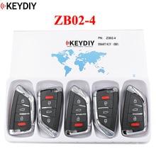 5 قطعة ، KEYDIY العالمي الذكية مفتاح ZB02 4 ل KD X2 سيارة مفتاح عن بعد صالح أكثر من 2000 نماذج