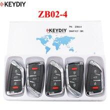 5 PCS, KEYDIY Universal Smart Schlüssel ZB02 4 für KD X2 Auto Schlüssel Remote Fit Mehr als 2000 Modelle
