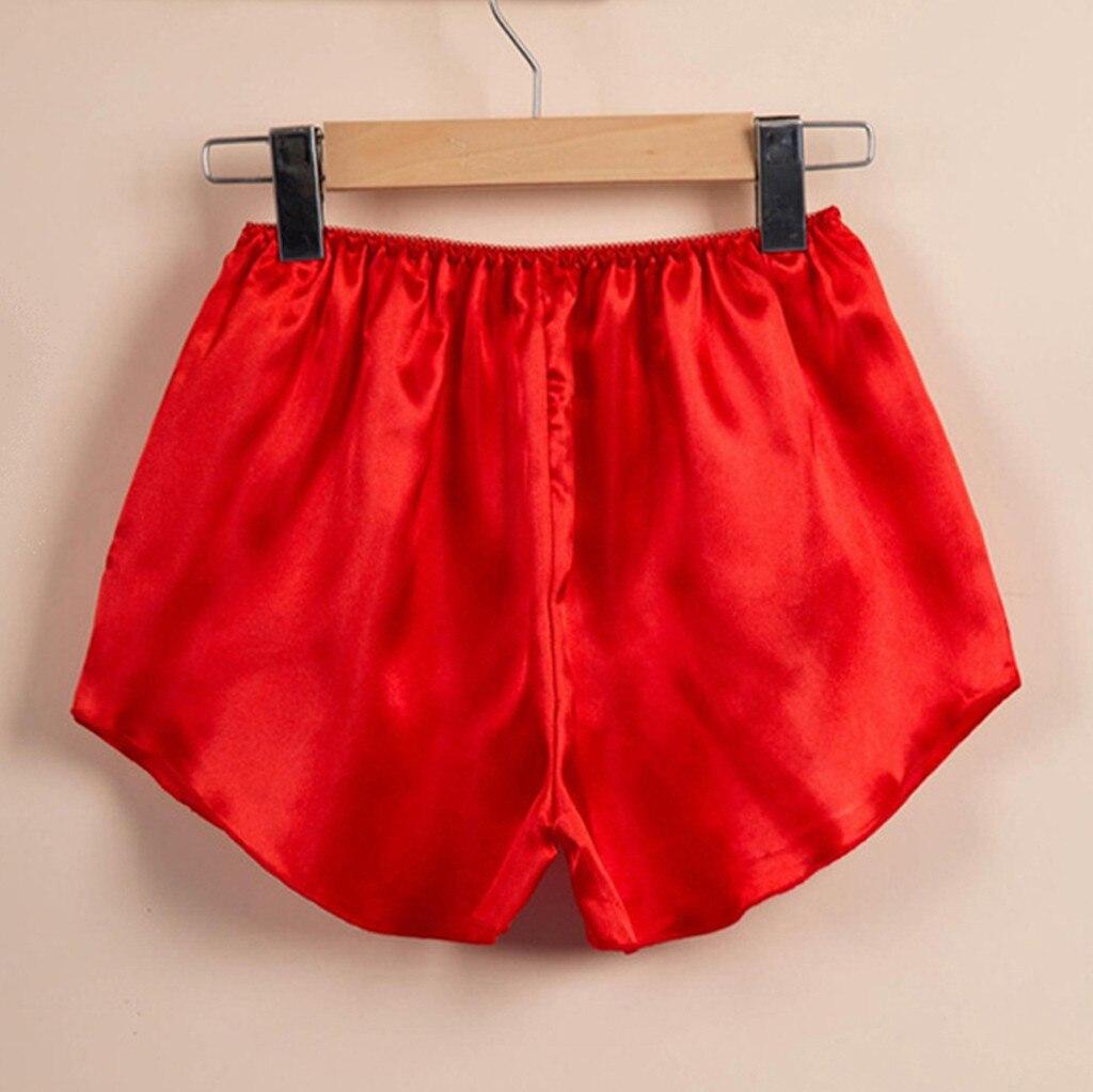 Women Sleep Bottoms Shorts Sexy Pajama Pink Stain Summer Loose Sleep Wear Home Suit Female Pajamas 8/22