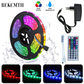 BEKCMTH RGB LED ストリップライト SMD2835 5050 5 メートル 10 メートル防水 RGB テープ DC12V リボンダイオード led ストリップランプ ir リモートコントローラ