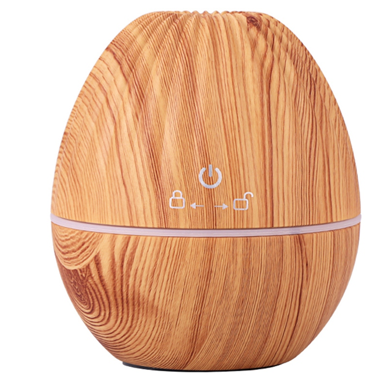 Usb Air Humidifier Olive Shape Aroma Essential Oil Diffuser Cool Mist With Colorful LED Light For Yoga Spa Living Room Light Woo