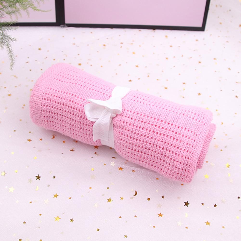 Boy Girl Cotton Blend Crochet Infant Supplies Baby Swaddle Towel Warm Sleeping Home Washable Soft Wrap Blanket Breathable Bath