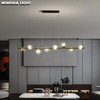 Post modern Clear Glass K9 Crystal Chandelier Lighting LED Hanging Lamps for Dining Room Restaurant Art Decor Lights Fixtures