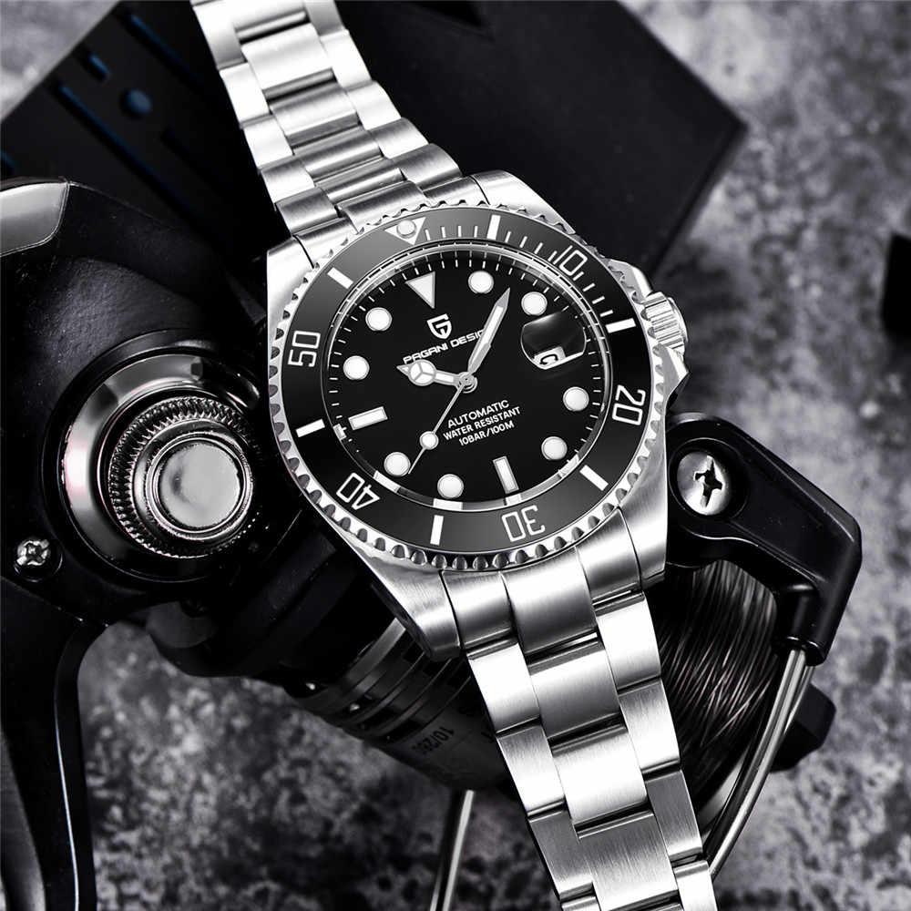 2019 パガーニデザインブランドの高級サファイア自動機械式時計男性ステンレススチール防水ビジネスメンズ腕時計時計