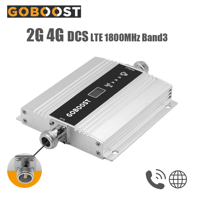 2G 4G Signal Booster Repeater DCS LTE 1800 Mobile Phone Band 3 Cell Phone Cellular Amplifier Communication Repeater LCD Display-
