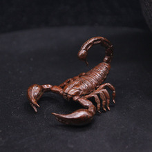 Pure Brass Scorpion Miniatures Figurines Mini Animal Statue Home Decoration Ornaments Crafts Copper Vintage Scorp Desk