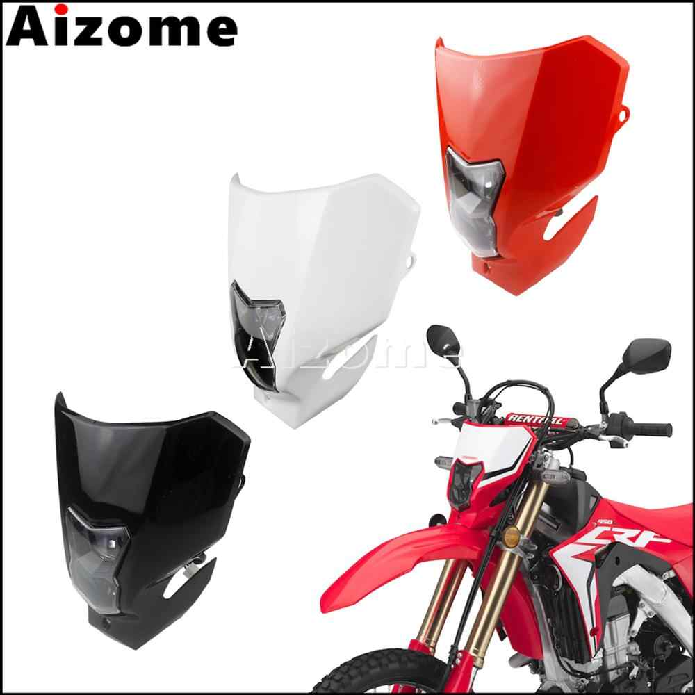 Universal Street Fighter Dirt Bike Headlight Head Lamp Fairing For Honda CRM XR