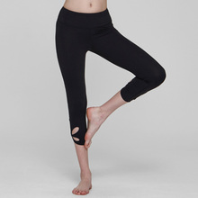 Cropped Trousers Flower  Compression Workout Gym Pants High Waist Running Training Sportswear Fitness Women Leggings