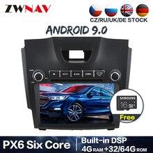 PX6 Android 9,0 2 din coche radio reproductor multimedia para Chevrolet/Chevy/Holden/S10/TRAILBLAZER/ISUZU D-MAX S10 GPS navi unidad de cabeza