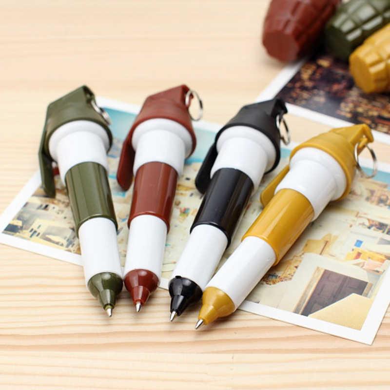 1 個かわいい手榴弾スタイルペンのペンケース大容量スクール鉛筆バッグ文具クリエイティブスクール書き込み用品