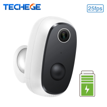 Techege HD 1080P Wireless Rechargeable Battery Powered WiFi Camera Waterproof PIR Motion Detection 2 Way Audio Cloud Storage