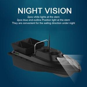 Image 5 - D11 RC Barco de cebo buscador de pesca, 1,5 kg de carga, 500m, Control remoto, doble motor, 2 luces Led, herramientas de pesca de velocidad fija
