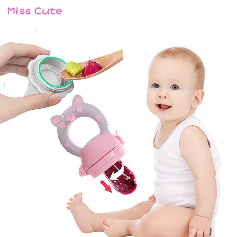 2019 Baby Pacifier Fruit Food Kids Nipple Feeding Safe Milk Feeder Baby Pacifier Bottles Fruit Food Supplement Feeding Device
