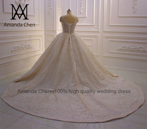 Image 5 - Abito דה sposa שווי שרוול קריסטל פנינים מבריקה טורקיה חתונה שמלת 2020