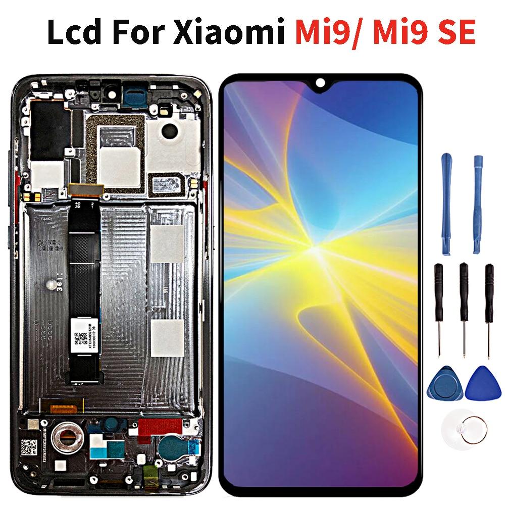 Super Amoled Lcd pour Xiaomi Mi9/Mi9 SE Lcd écran tactile numériseur assemblée pièce de rechange
