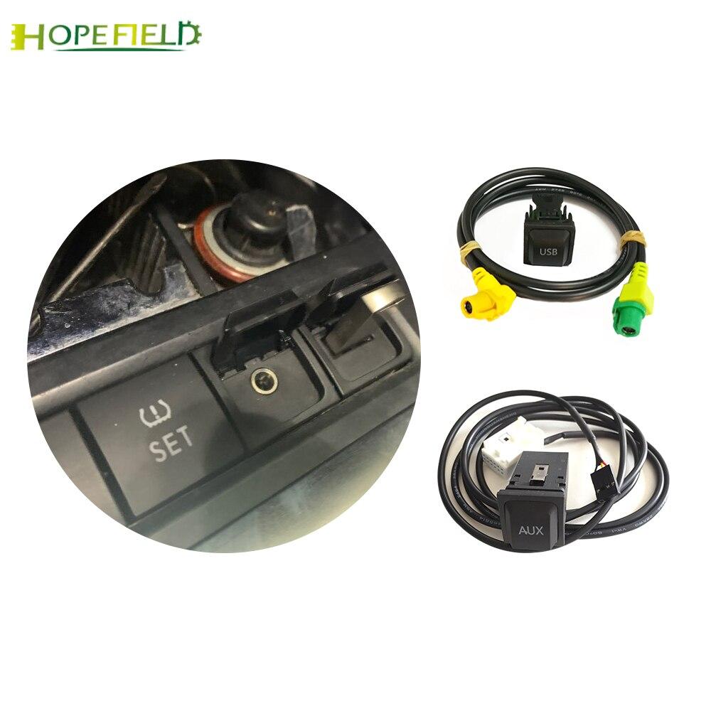 Car USB AUX switch cable harness USB audio adapter RCD510 RNS315 for Passat B6 B7 Golf 5 MK5 Golf 6 MK6 GTI Jetta 5 MK5 CC()