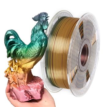 Rainbow Silk Filament 1 75mm 1Kg 500g 250g PLA 3D Filament drukarki jedwabiste 3D długopis materiały do drukowania błyszczące metalowe PLA Filament tanie i dobre opinie EasyThreed CN (pochodzenie) solid SILKPLA175-RAINBOW