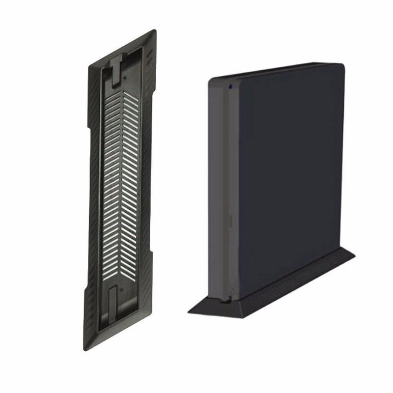 Elistooop suporte vertical para playstation 4 slim, dock preto para console de jogos com base esfriadora