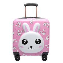 Trolley Luggage Suitcase Spinner-Wheels Travel-Carry Cartoon Flower Leisure Portable