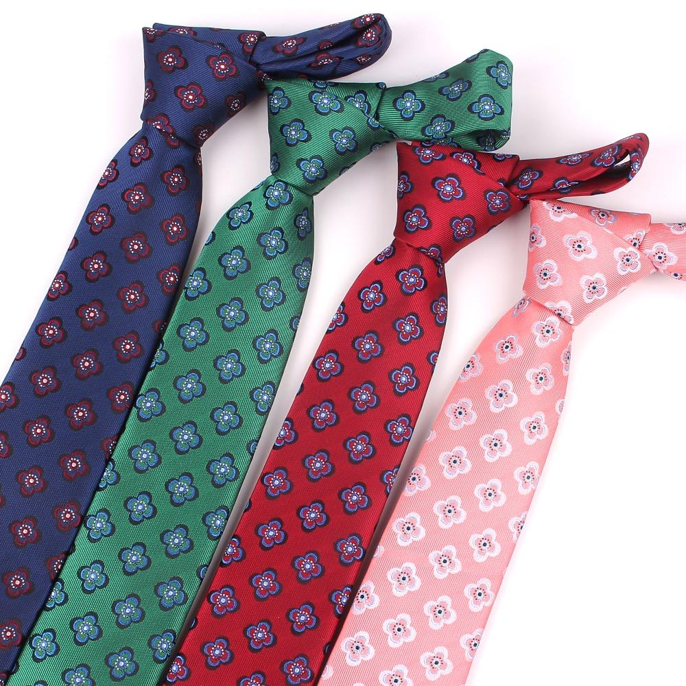 New Jacquard Floral Tie For Men Polyester Plaid Neck Tie For Wedding Business Suits Classic Ties Slim Men Nicktie Adult Gravatas