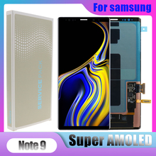 "6.4 ""Super AMOLED Note9จอแสดงผลLCDสำหรับSamsung Galaxy NOTE 9 N960D N960F LCDหน้าจอสัมผัส + กรอบ"