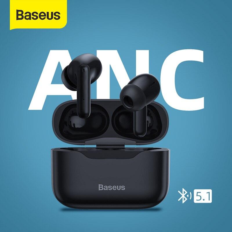 Baseus ANC TWS Earphone Bluetooth 5.1 Hi Fi Earphone Noise Cancelling Earphone Sport Waterproof Earbuds