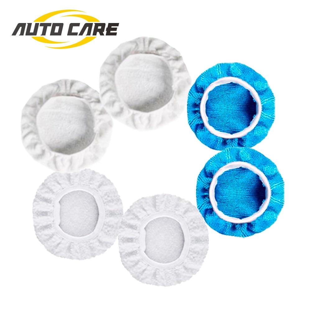 Polishing Bonnet Buffer Pad Microfiber Bonnet Car Polisher Pad Cover For Car Paint Care 5-6