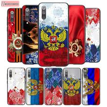 For Xiaomi 10 CC9 A3 Lite Black Cover Russia Russian Flags Emblem For