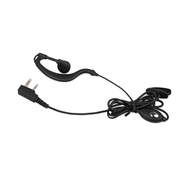2x Mic Headset Earpiece Earphone 2 PIN Hanger For Baofeng Walkie Talkie Radio