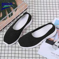 Damyuan Running Shoes Woman Mesh Casual Shoe Zapatos De Mujer 2020 New Fashione Sneakers Summer Flat Loafers Plus Size 42