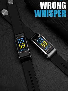 Bluetooth Wireless Bracelet Earphone Wristband Smart-Watch Music-Play Y3-Plus Health-Tracker